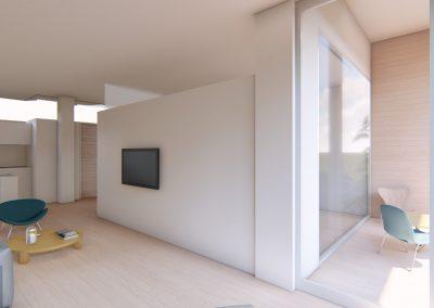 Diseño 3D Vista Terraza Cohousing
