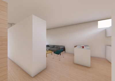 Diseño 3D Salón-Cocina Cohousing