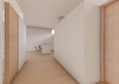 Diseño 3D Vista Entrada Cohousing
