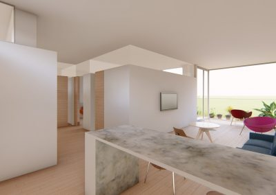 Diseño 3D Vista Cocina Cohousing