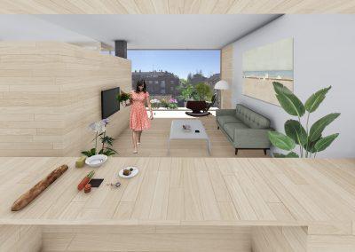 Diseño 3D Salón Cohousing