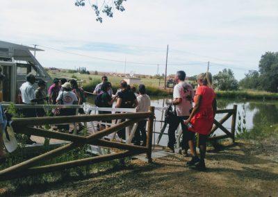 La asociación visita el canal de Castilla